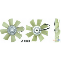Привод вентилятора в сб. ЯМЗ 651 (Вискомуфта) 651.1308010 в сборе с  крыльчаткой (BEHR Германия)